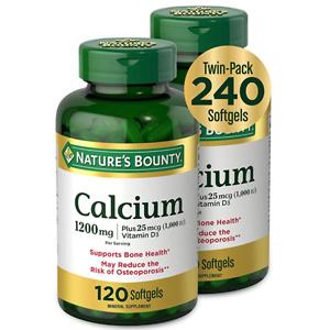 自然之宝 液体钙胶囊 120粒 2瓶装