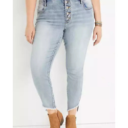 Plus Size m jeans by maurices™ Vintage High Rise Fray Hem Jegging