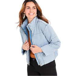 KanCan™ Puffer Denim Jacket