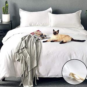 COSYJOY Quilt Sets King Size White 3 Piece Duvet Cover Set