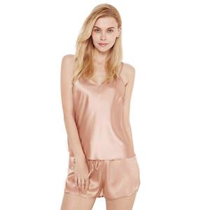 SIORO Womens Satin Pajamas Shorts Silky PJ Set