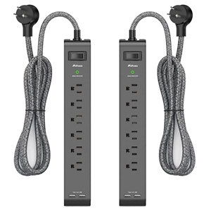 2 Pack Surge Protector Power Strip