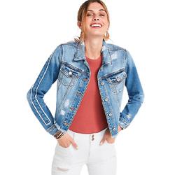 KanCan™ Classic Non-Stretch Cropped Denim Jacket