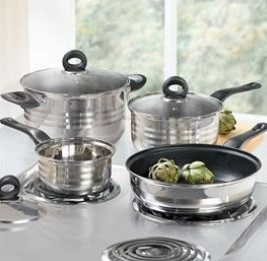 Two-Tone 7-Pc Stainless Steel Cookware Set