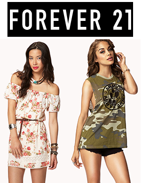 Forever 21:精选商品21%OFF