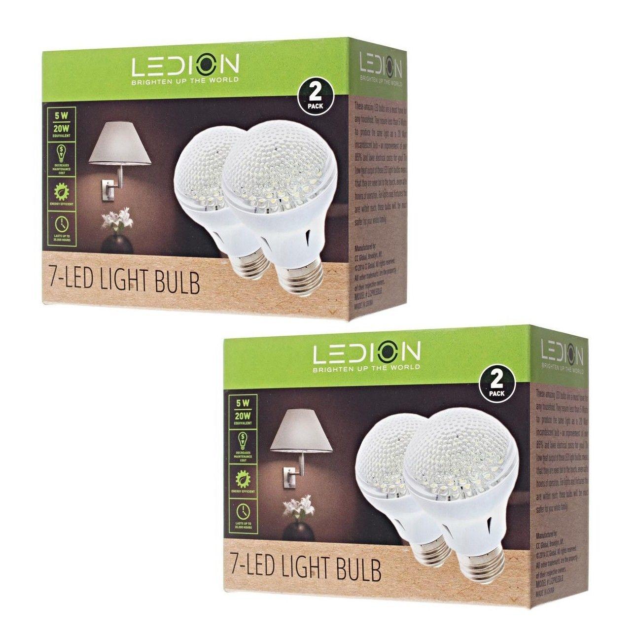 4个装节能暖光5W LED灯泡