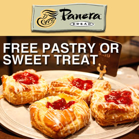 Panera: Free Pastry or Sweet Treat