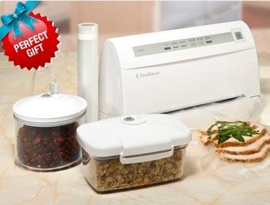 "FoodSaver V3440 Vacuum Food Sealer Kit, 11"" pouch roll"