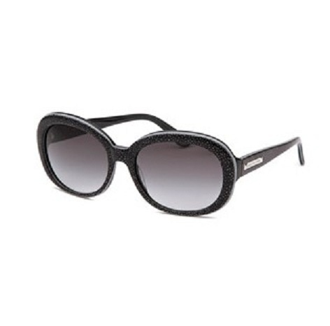 Juicy Couture Women's Oval Black Sunglasses