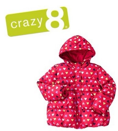 Crazy 8: 50% OFF Outerwear + $6.99 Accessories & $9.99 Thermals