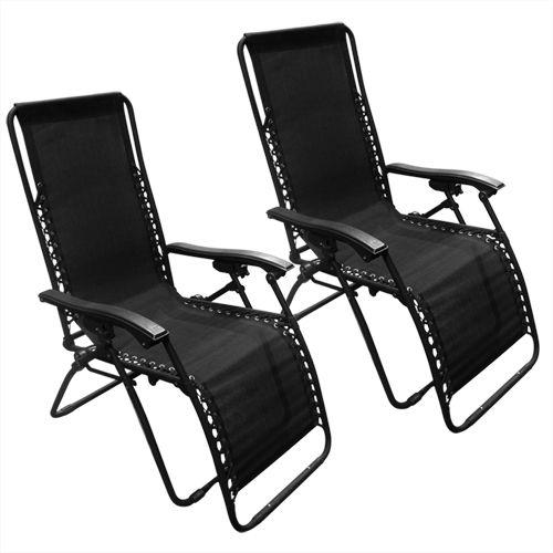 Zero Gravity Lounge Patio Chairs, 2 pack