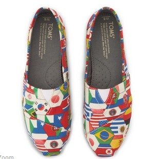 TOMS 限量版世界杯经典帆布鞋