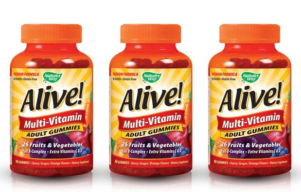 Alive! 成人复合维生素软糖 90粒3瓶装