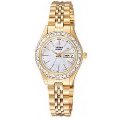 Citizen Womens Swarovski Crystal Dress Watch EQ0532-55D