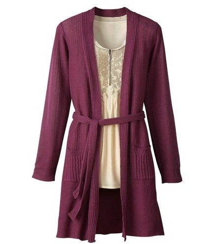 Coldwater Creek Women's Long Belted Cardigan