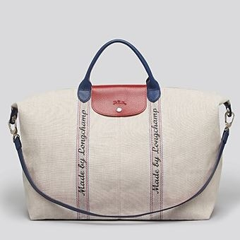 "Bloomingdales: Longchamp Weekender - ""Made by Longchamp"" 帆布包"