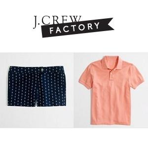 J.Crew Factory 官网:精选 Polos 衫 & 短裤特卖,可享40% - 50% OFF 优惠