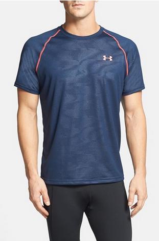 Under Armour UA Tech Embossed 男式短袖T恤