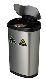Nine Stars 13.2加仑自动感应垃圾桶DZT-50-13r
