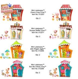 Mini Lalaloopsy 8pk- Sweet Shoppes儿童8件套玩偶组合