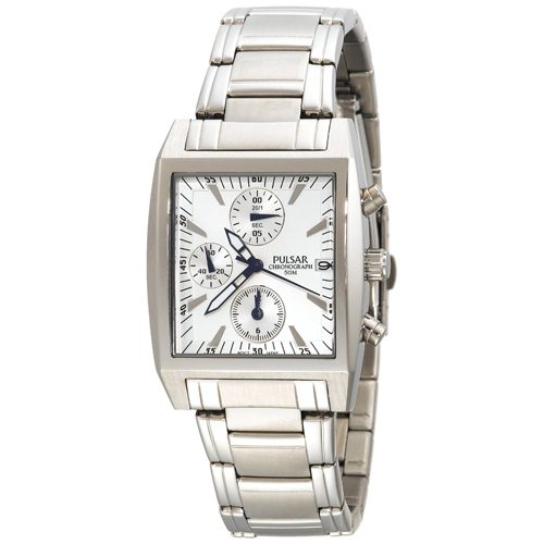 Seiko Pulsar PF8133 Men's Chronograph Silver-Tone Stainless Steel Watch