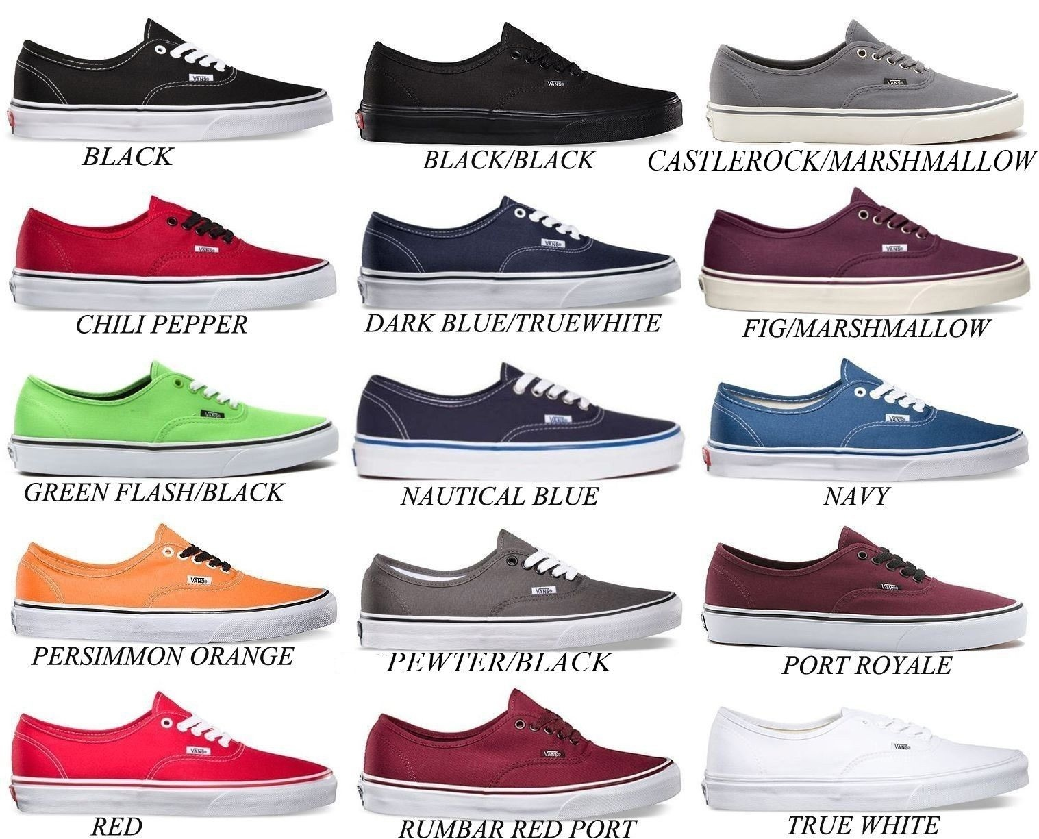 Vans Mens and Womens Vans Casual Shoes