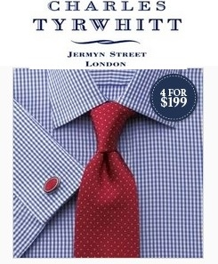 Charles Tyrwhitt: Men's Shirts From $35, and $20 OFF When Buy 4