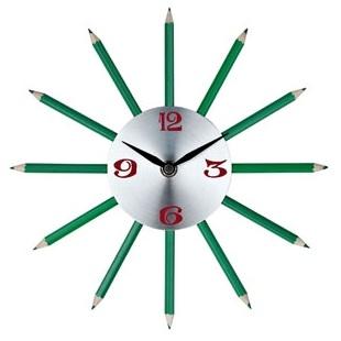 Green Pencil Clock