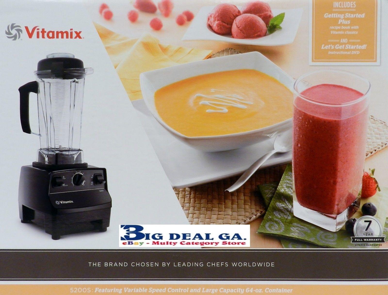 Vitamix 5200S 64oz Food Juicer Blender W Get Started Cookbook And DVD
