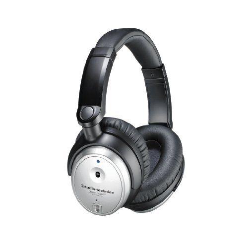 铁三角ATH-ANC7B银色QuietPoint降噪耳机带麦