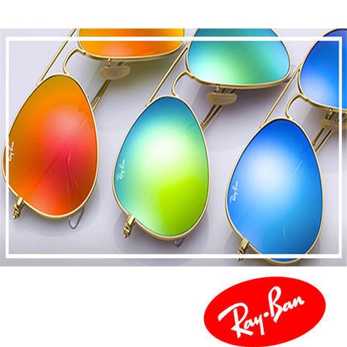 Ray Ban RB3025 Large Aviator Sunglasses Gold Frame (Mirror Lens) 58mm