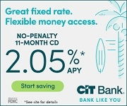 CIT Bank 2.05% No-Penalty CD