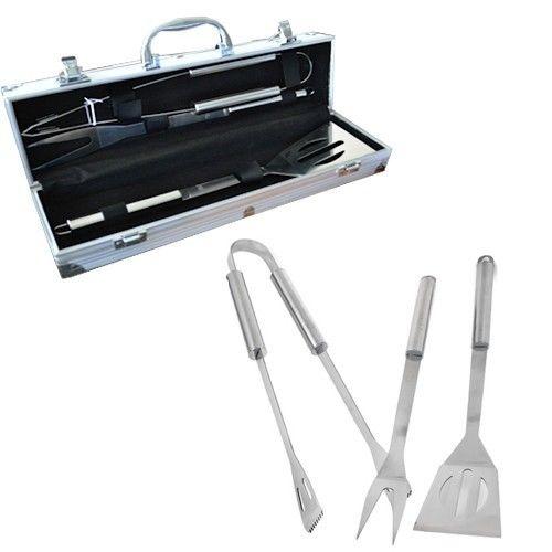 铝制不锈钢烧烤器具四件套 带盒子