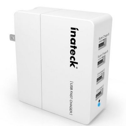 Inateck 4-Port Compact USB Wall Charger