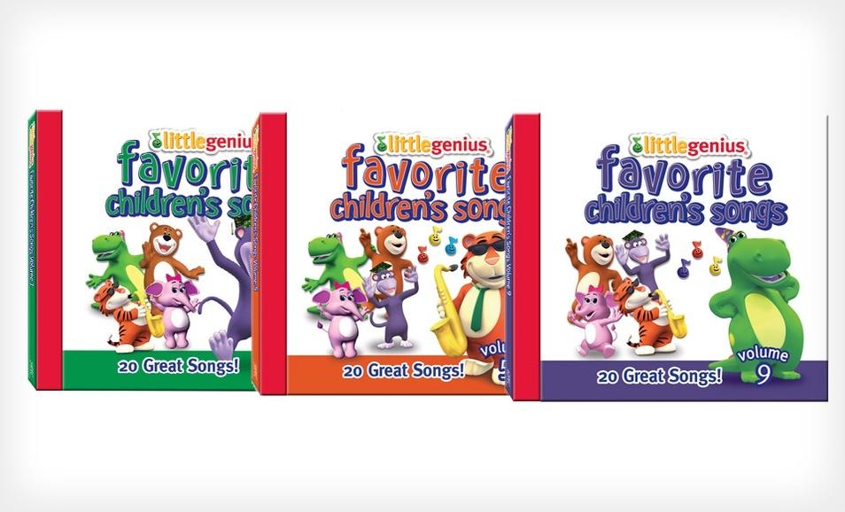 Groupon: Little Genius Favorite儿童音乐CD,1–10册