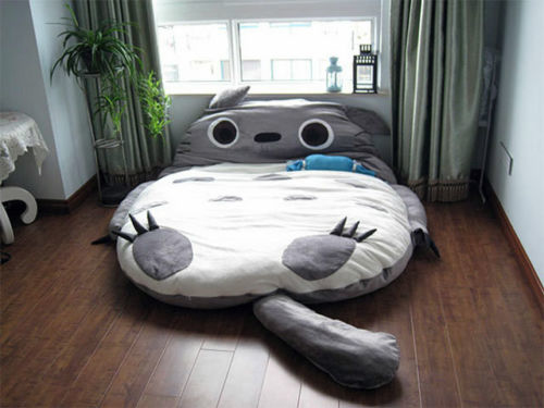 2014超大龙猫睡垫 睡下去再也不想起来了