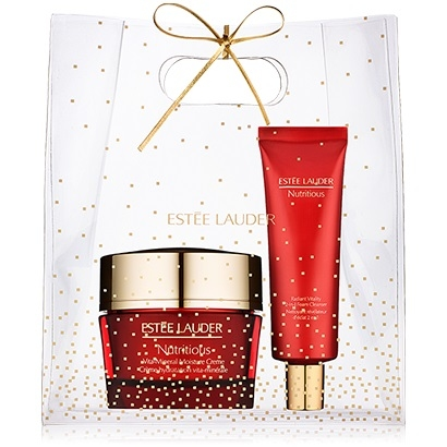 Estee Lauder 7Pc Nutritious Essentials Set with full-size Moisture Creme and Cleanser