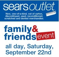 Sears Outlet Family & Friends Event: 10% OFF Everything