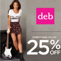 DEB Shops: 25% OFF Everything During the Fall Preview Sale