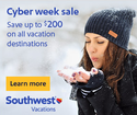 Southwest Airlines Vacations: 精选机票 + 酒店套餐最高立减$200
