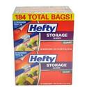 Hefty Slider Storage Bags, Quart, 184 Count