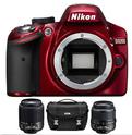 Nikon D3200 单反相机+18-55 & 55-200 两个镜头+相机包(官翻版)