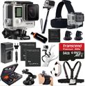 GoPro HERO4 黑色版+2块备用电池+超全附件套装
