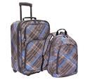 U.S. Traveler 格纹行李箱包2件套