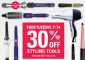 30% OFF All Styling Tools