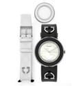 Gucci Women's U-Play White Dial Leather Watch
