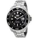 Invicta F0066 Men's Black Dial Steel Bracelet Automatic Dive Watch
