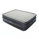 """Intex 22"""" Queen Raised Downy Fiber-Tech Airbed with Built-In Electric Pump"""