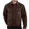 Carhartt Sandstone Jean Jacket - Sherpa-Lined (For Tall Men)
