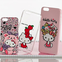 Sanrio Hello Kitty Clear or Color Case for Apple iPhone 5/5s, 6, or 6 Plus